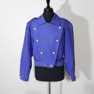 Carlisle Silk Bomber Jacket